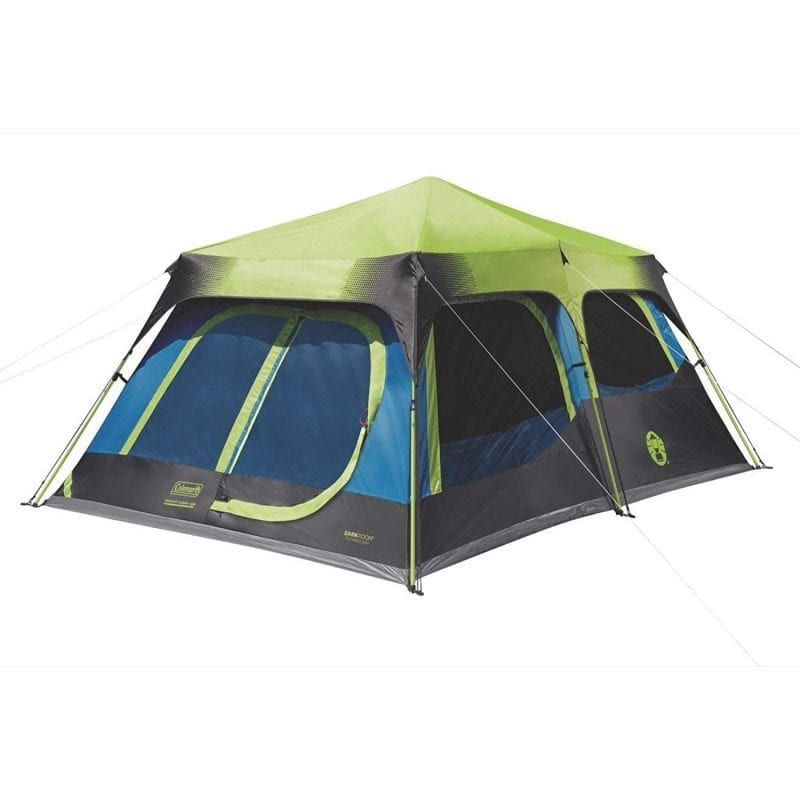 coleman with setup cabin instant camping tent