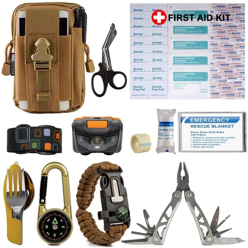 Survival gear for outdoor, hiking and camping